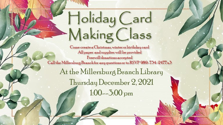 Card Making Class offered in Millersburg